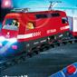 Train de marchandises RC avec phares